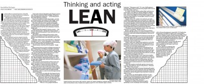 Our Lean initiatives have been in the news.